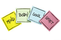 mind, body, soul, and spirit - sticky note set