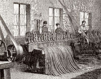 A cartridge case production, arms industry, France, 19th century