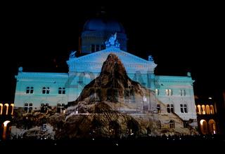 Lightshow,Bundeshaus Bern,Schweiz