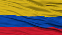 Closeup Colombia Flag