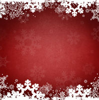 Holiday Christmas Ice Snowflakes Red Background