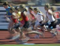 Young girls running 600m