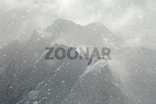 Heavy snowfall in the ALps