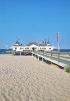 Pier of Ahlbeck on Usedom,baltic Sea,Mecklenburg western Pomerania,Germany
