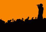 concert crowd wave