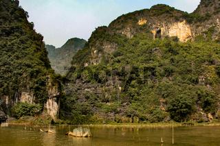 Landscape in tam coc, dry halong bay in vietnam