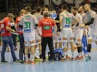 handball team Frisch Auf Göppingen at time out