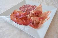 Salami, raw ham and bresaola