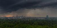 Thunderstorm over the city of Frankfurt am Main