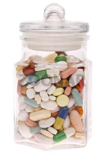 Tabletten im Glas