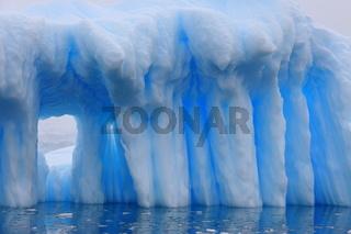 Iceberg and azure water