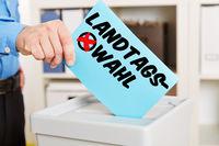 Wählen gehen bei Landtagswahl