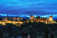Alhambra palace night view