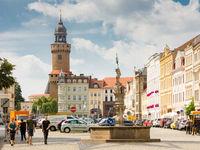Tourists the historic old town of Görlitz