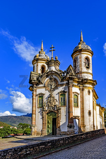 Ancient historical catholic church in the city of Ouro Preto