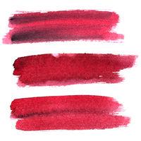 Dark red expressive brush strokes