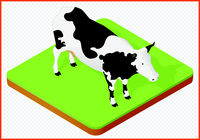 cow isolated vector