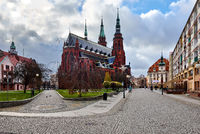 Saint Peter and Saint Paul Cathedral in Legnica city
