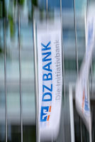Flag with the logo of the DZ Bank