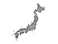 Karte von Japan auf Mohn - Map of Japan on poppy seeds