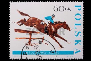 Poland - CIRCA 1967: A stamp - horse
