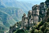 Spectacular Montserrat mountains. Spain