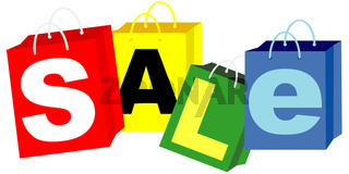 Shopping Bags - Sale Sign