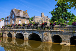die Stadt Lamballe, Bretagne Frankreich - the town Lamballe, Brittany in France
