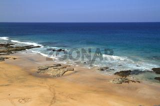 Scenic view El Cotillo beach on Fuerteventura, Canary Islands