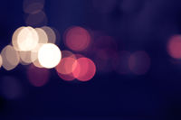 Abstract circular bokeh background of Christmaslights copyspace.