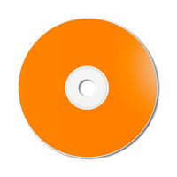 Orange CD - DVD mockup template isolated on white