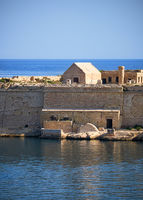 The Point Battery of Fort Ricasoli in Kalkara peninsula, Malta