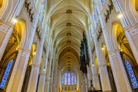 Interior of Chartres Cathedral, France
