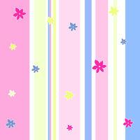 Streifenmuster mit Blumen