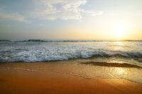 Indian ocean at sunset