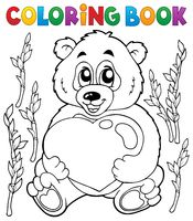 Coloring book Valentine topic 4