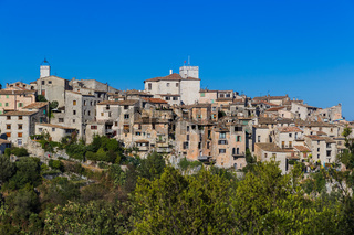 Town Tourrettes-sur-Loup in Provence France