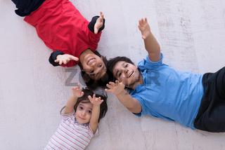 young boys having fun on the floor