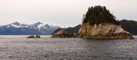 Rocky Buttes Mountain Range Gulf of Alaska North Pacific Ocean Alaska