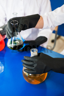 Experiments in a chemistry lab