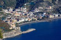 Amalfi coast sea view.