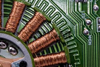 electronic background macro shot