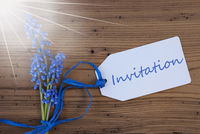 Sunny Srping Grape Hyacinth, Label, Invitation
