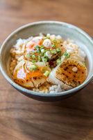 Hotate on rice