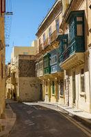 A narrow street of Rabat. Malta