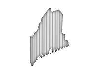 Karte von Maine auf Wellblech - Map of Maine on corrugated iron