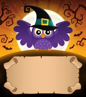 Small parchment and Halloween owl 1