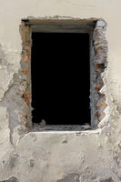 Black window without glass