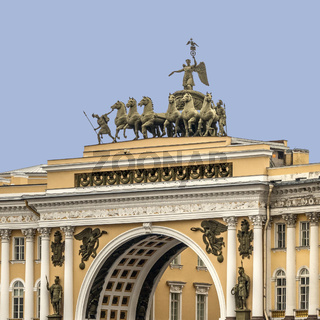 Arch Of the General Staff Building, St. Petersburg Russia