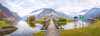 Hallstatter lake and the Alps